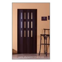 Shrnovací dveře Luciana Color C3 73 x 200 cm - hnědá