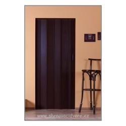 Shrnovací dveře LUCIANA Color CL 73 x 200 cm - hnědá