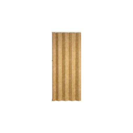 Koženkové shrnovací dveře KP 83 x 200 cm - světle hnědá