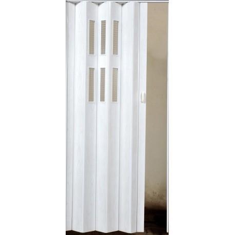 Plastové shrnovací dveře PIONEER GLASS 84 x 203 cm - bříza