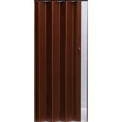 Plastové shrnovací dveře PIONEER 84 x 203 cm - tm. ořech 218
