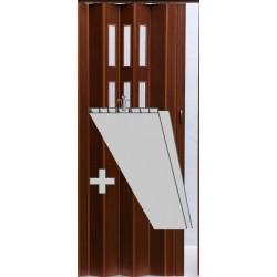Prosklenná přídavná lamela Pioneer Glass - tm. ořech 218
