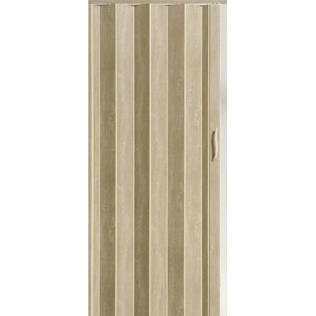 Plastové shrnovací dveře ACCORDION 82 x 203 cm - ořech