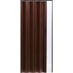 Plastové shrnovací dveře ACCORDION 82 x 203 cm - tmavý ořech