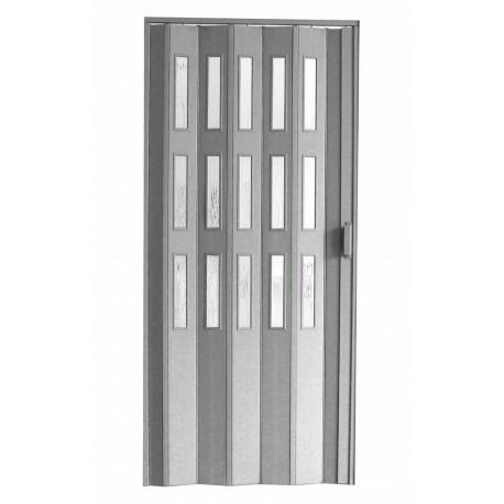 Plastové prosklenné shrnovací dveře HOPA Dora 3 74 x 200 cm - šedá