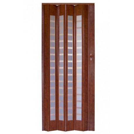Plastové shrnovací dveře HOPA Platinum 86 x 203 cm - ořech