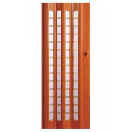 Plastové shrnovací dveře HOPA Platinum 86 x 203 cm - teak