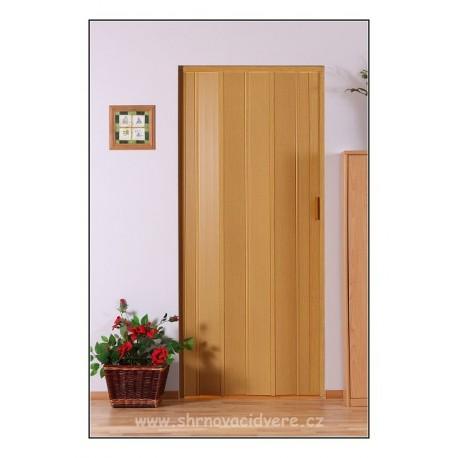 Shrnovací dveře LUCIANA Design DL 73 x 200 cm - jasan