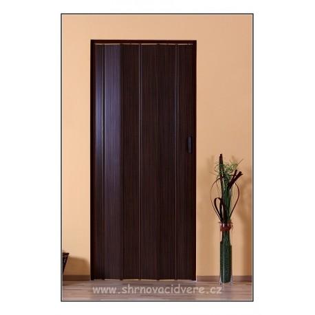 Shrnovací dveře LUCIANA Design DL 73 x 200 cm - ořech