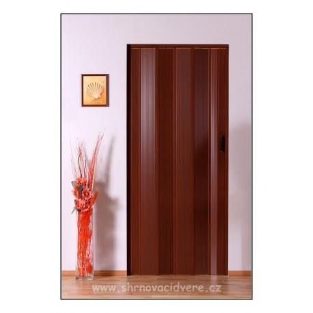 Shrnovací dveře LUCIANA Design DL 73 x 200 cm - sv. mahagon