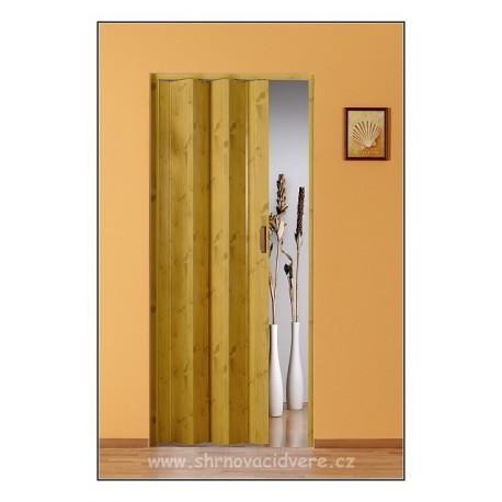 Shrnovací dveře LUCIANA Design DL 73 x 200 cm - borovice